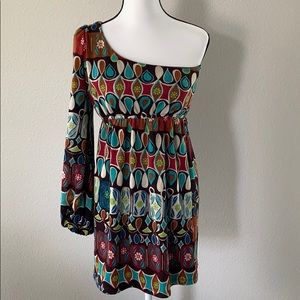 Judith March Anthro one shoulder dress sz M